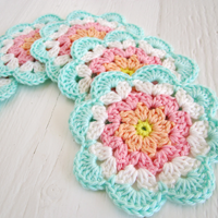 Crochet Pattern Coaster (Etsy)