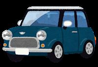 コンパクトカーのイラスト(青)