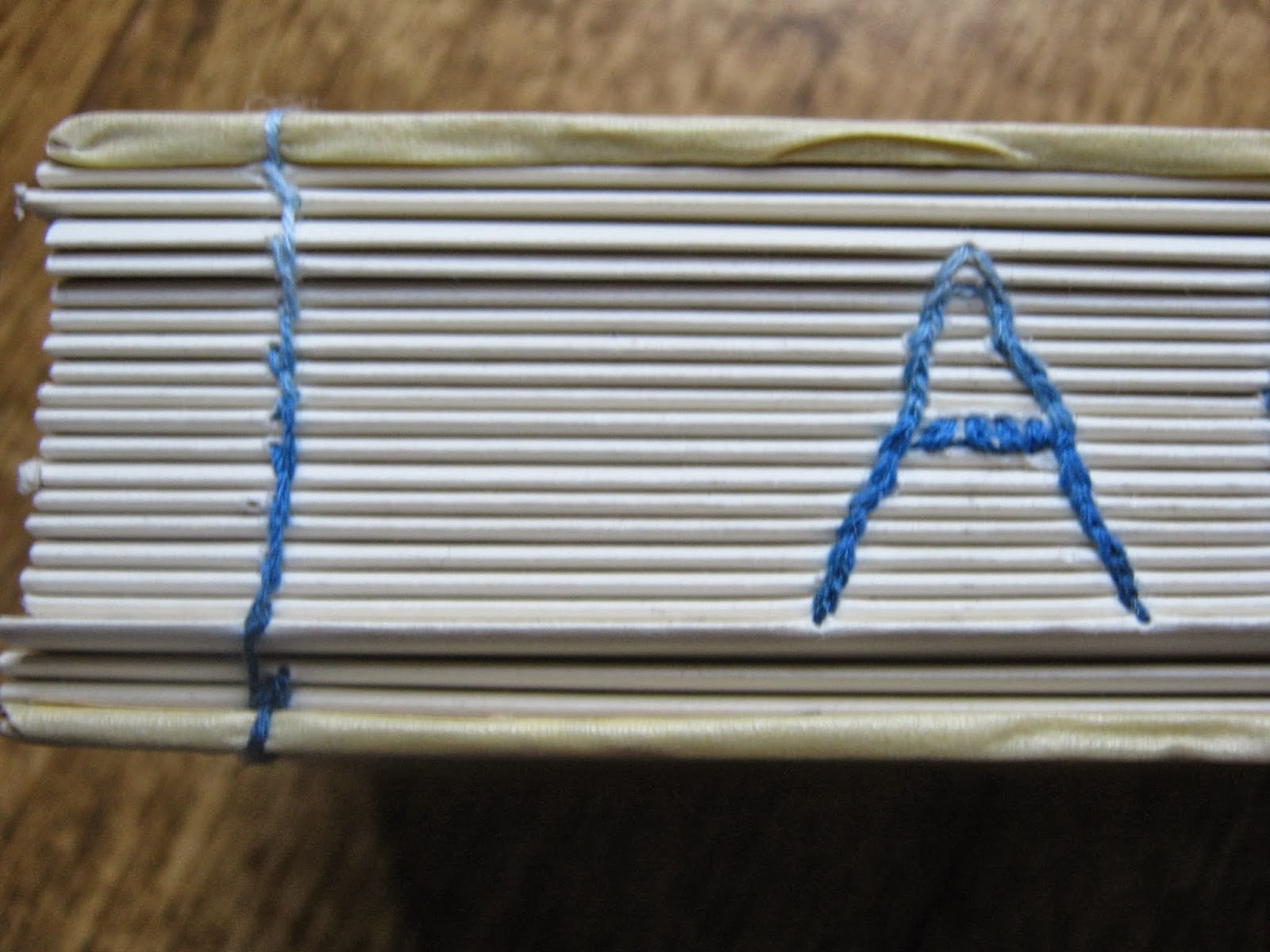 Coptic Stitch Name Spine