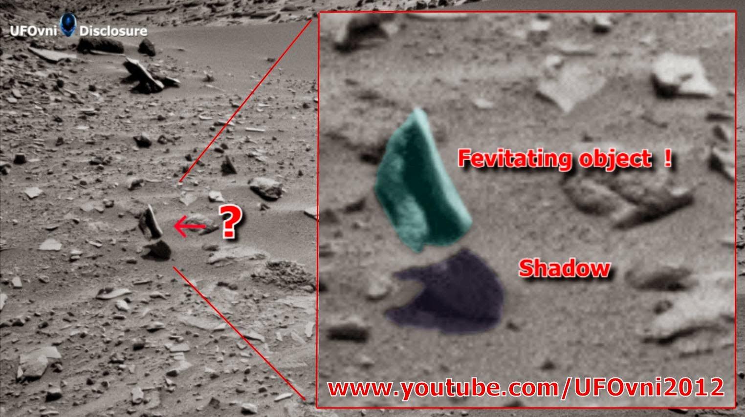 Mars a photographié un objet mystérieux qui semble léviter au-dessus de la surface de Mars