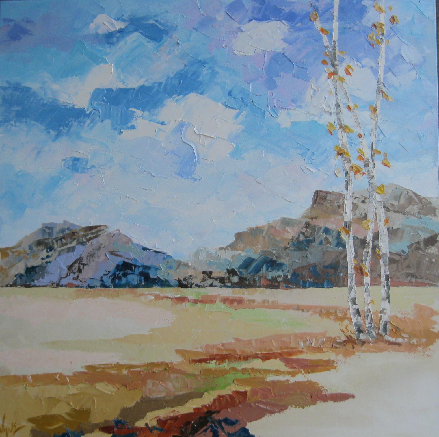 Kay Wyne Fine Art Blog Landscape Palette Knife Painting By Kay Wyne