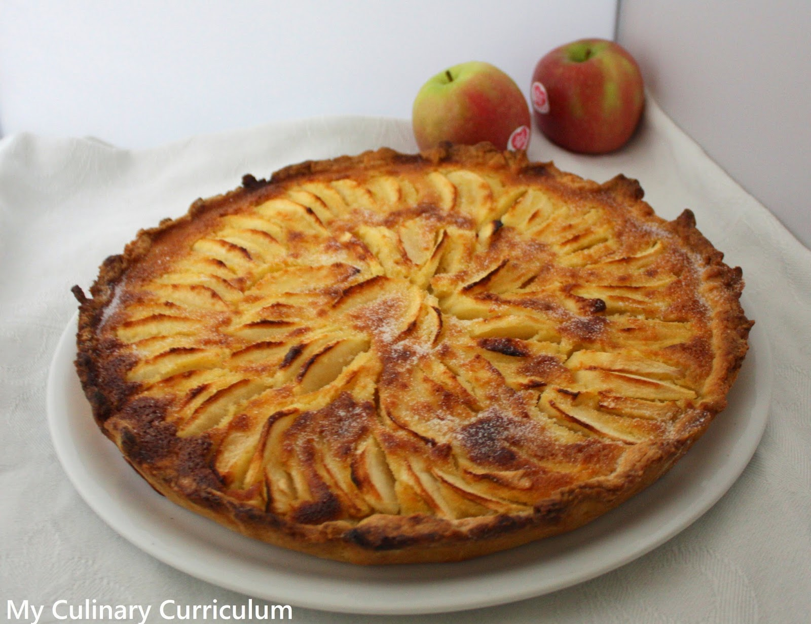 my culinary curriculum tarte aux pommes normande normandy apple tart. Black Bedroom Furniture Sets. Home Design Ideas