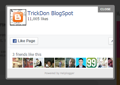 Facebook Popup Like Box Widget For Blogger - TrickDon Blogspot