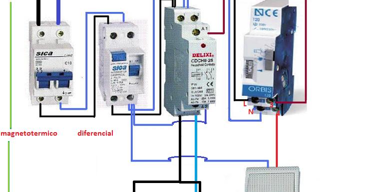 Extractor De Baño Sica:automatico escalera mas contactor ~ Esquemas eléctricos