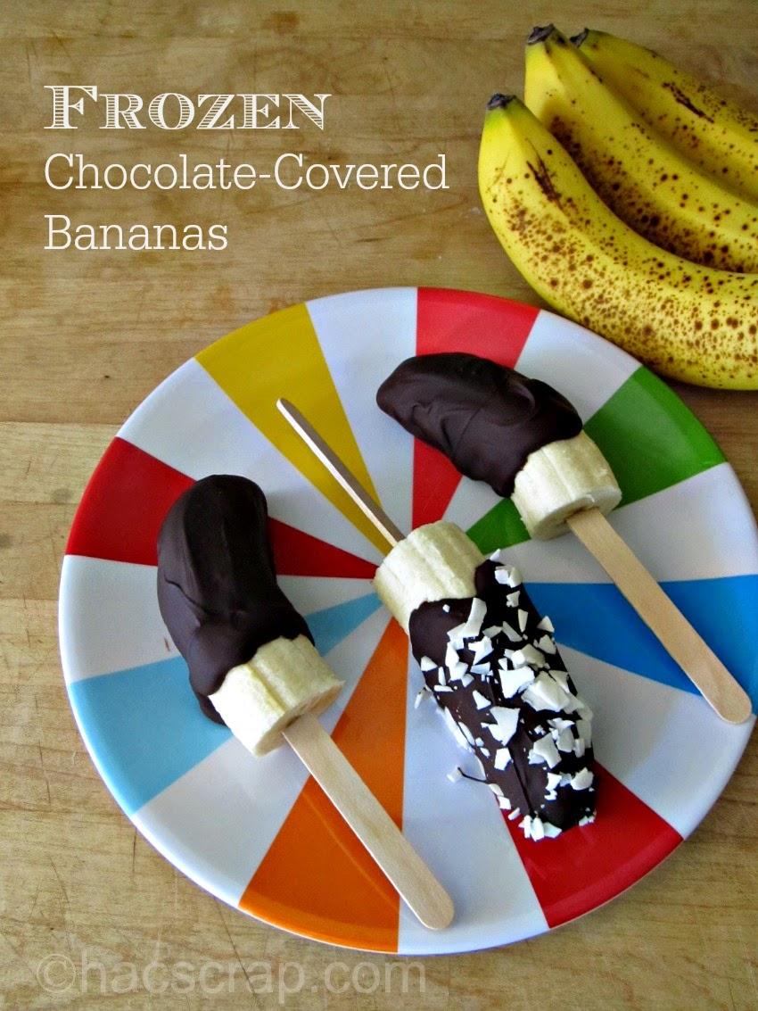 Frozen Chocolate-Covered Bananas | My Scraps