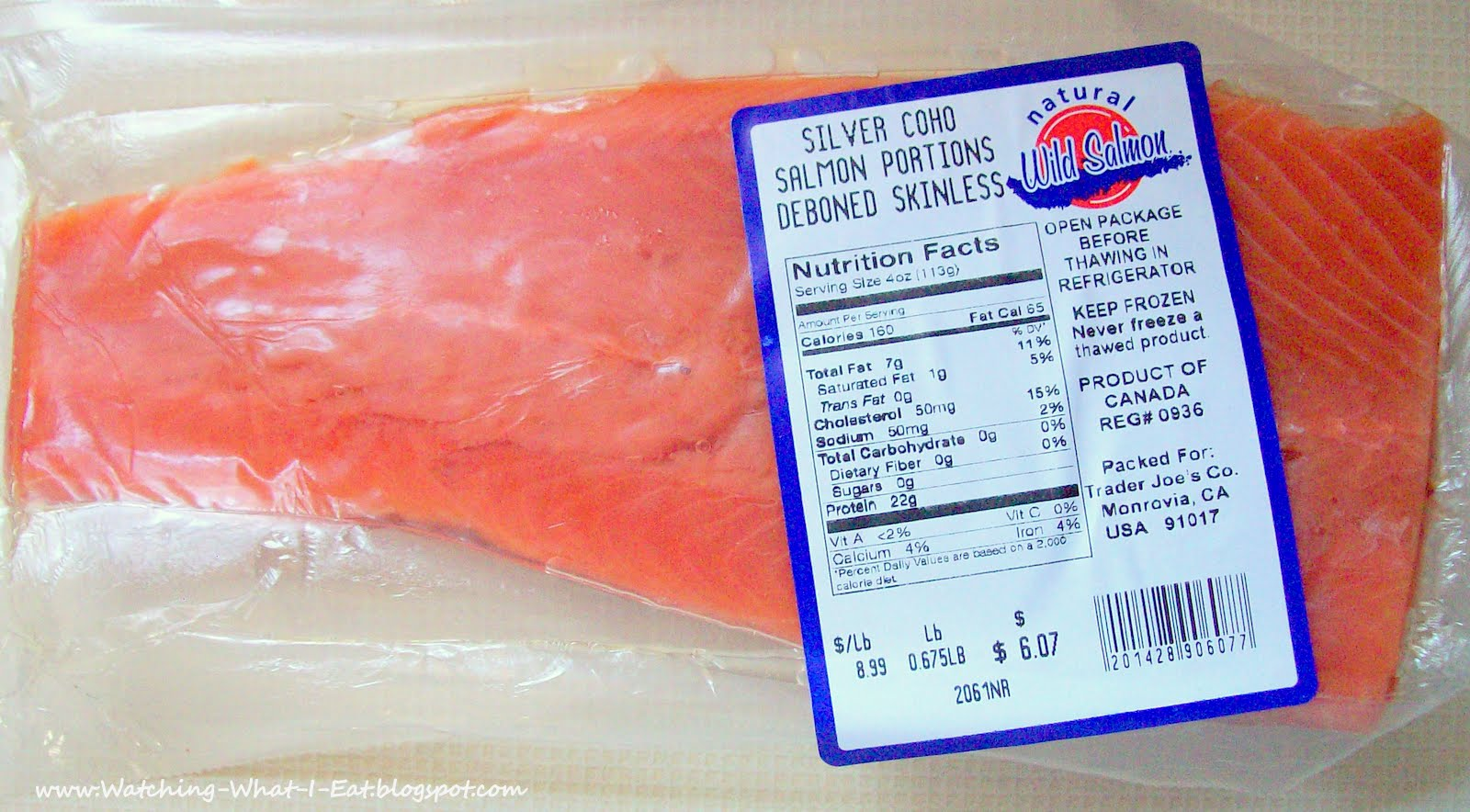 Watching what i eat salmon a perfectly healthy meal for for Does frozen fish go bad