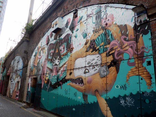 Arte Urbano en Manchester , cerca de Oxford Road