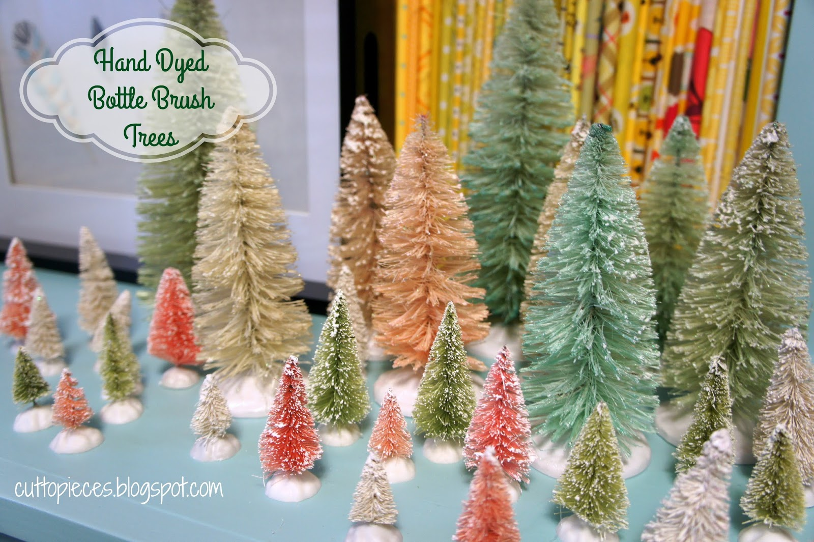 Bristle brush ornaments - So I Finally Decided To Join In On The Bristle Brush Tree Bandwagon I Bought Some Last Year With The Intention Of Attempting To Hand Dye Them But I