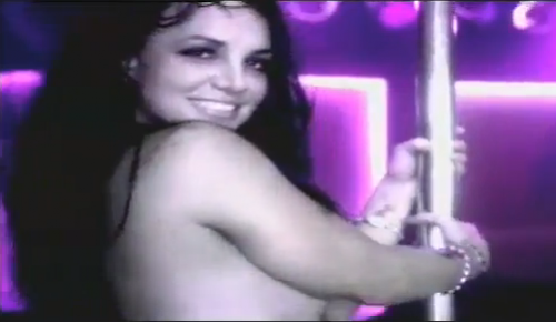 Britney topless poledancing video — 1