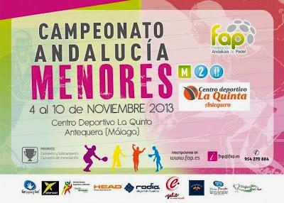 Cartel que anuncia, con todos los datos, la celebración del Campeonato de Andalucía de Menores.