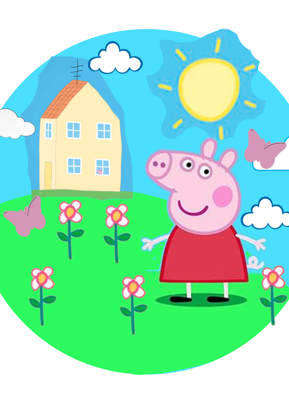 Peppa pig cake template free 28 images peppa pig for Peppa pig cake template free