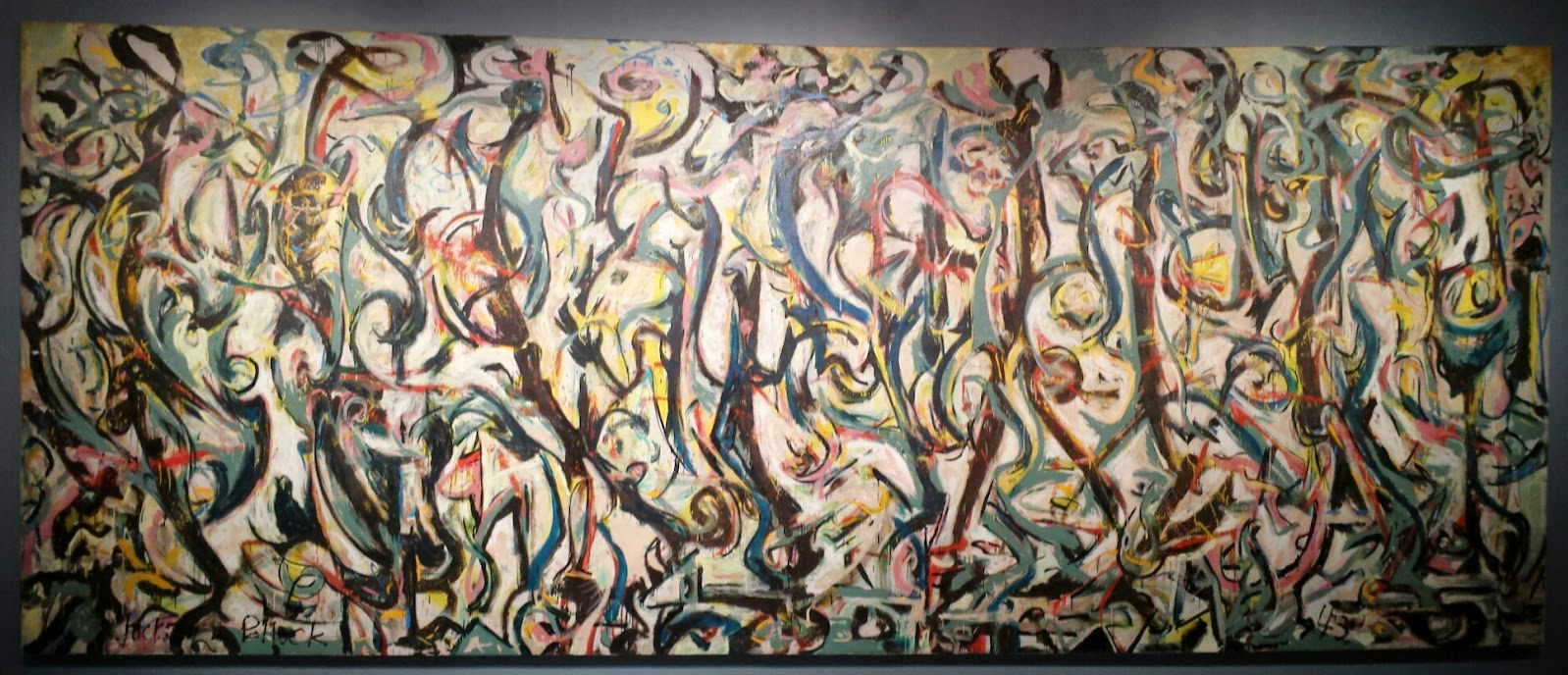 History and culture by bicycle jackson pollock mural for Mural jackson pollock