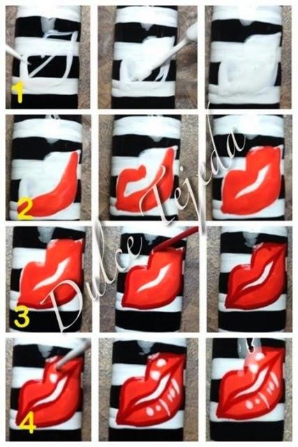 passo-passo-unhas artisticas-labios
