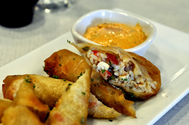 Jambalaya Spring Rolls with Remoulade Dipping Sauce - Mitzi's Table - Bethlehem, PA | Taste As You Go
