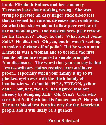 Republican Blood Test Coming?