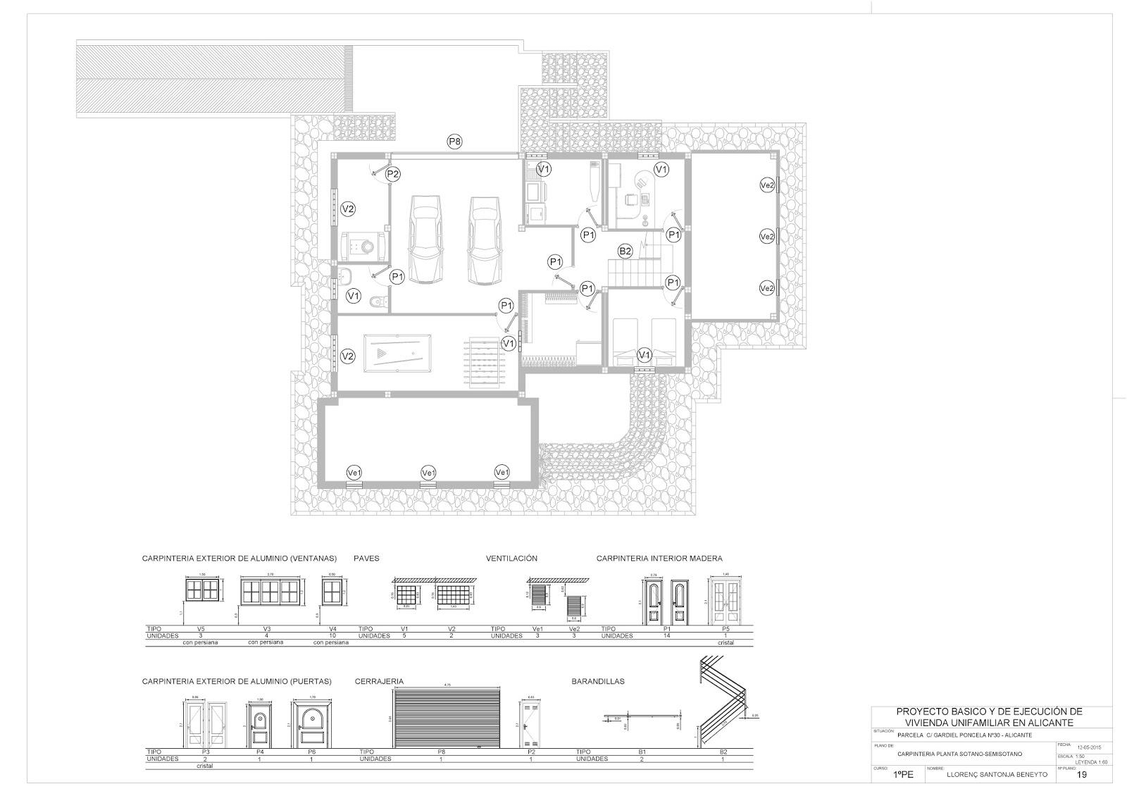 Rc i e s gran v a alicante pr ctica 10 19 20 21 planos for Planos carpinteria