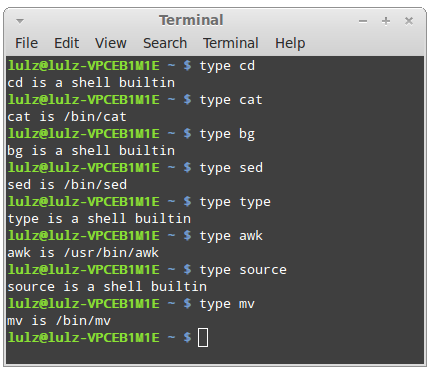 difference between internal and external unix commands