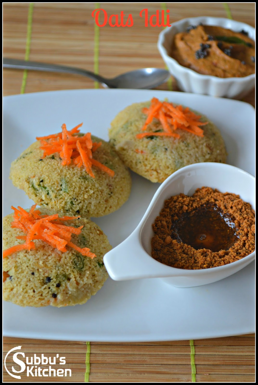 Instant Vegetable Oats Idli