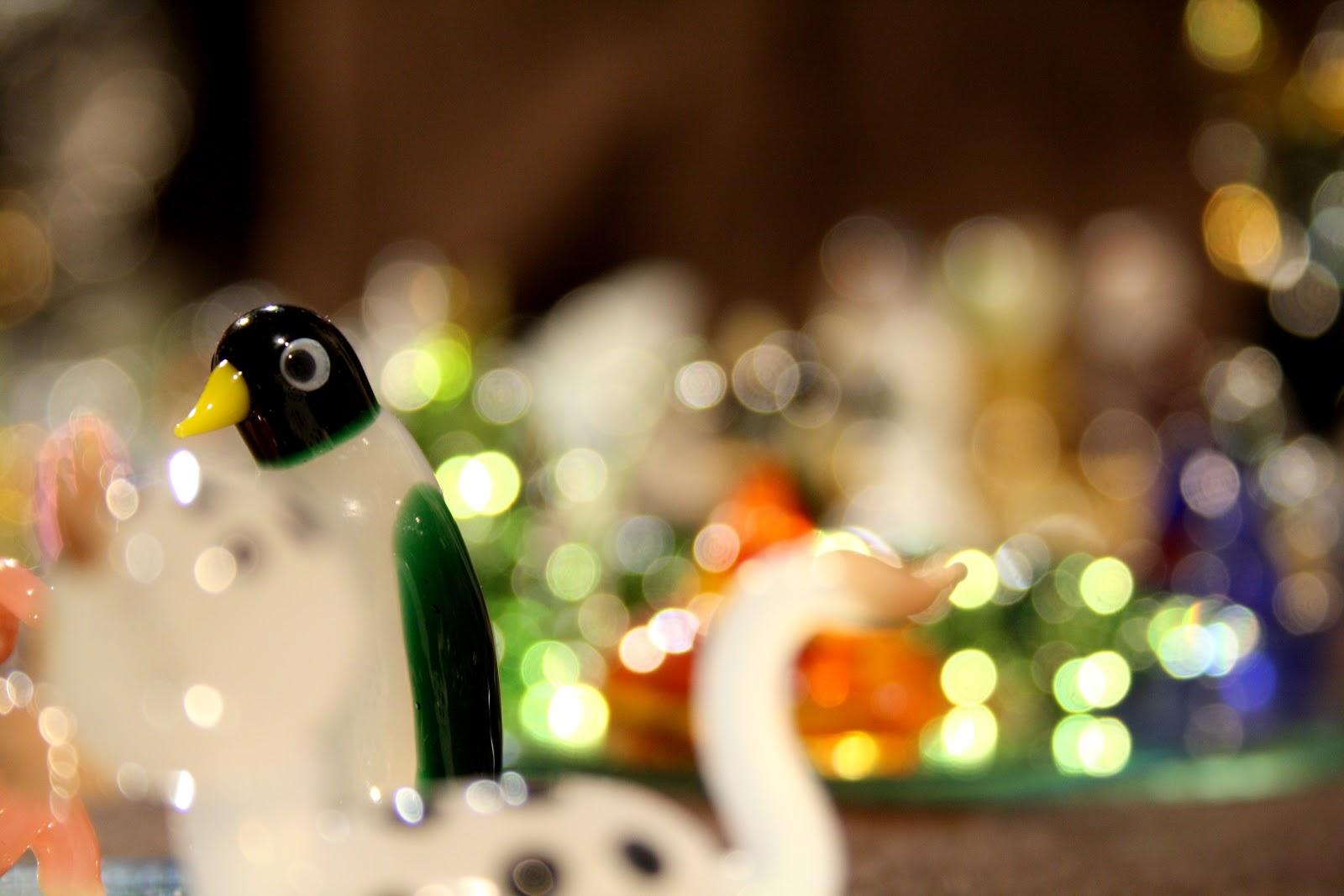 Pingouin en verre au marché de noël de Gendarmenmarkt