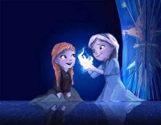 Gambar Kartun Anna dan Elsa Frozen Kecil