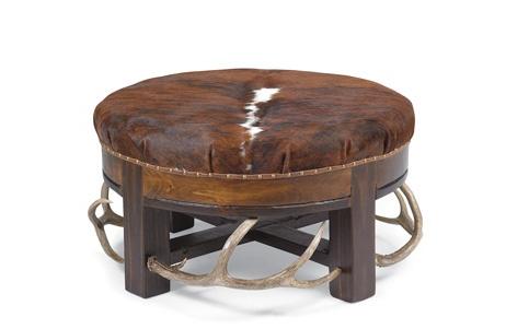 Design Idea The Rustic Lodge Look Gas Fireplace Mendota Fireplace . Rustic  Leather Ottoman Coffee Table ...