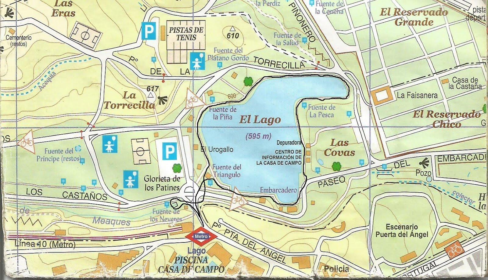 Paseo por el lago de la casa de campo paseos por la casa - Mapa de la casa de campo ...