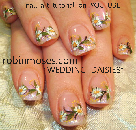 Robin moses nail art june bride wedding daisy nail art mermaid httpyoutubewatchv1zrbudbpasq prinsesfo Gallery