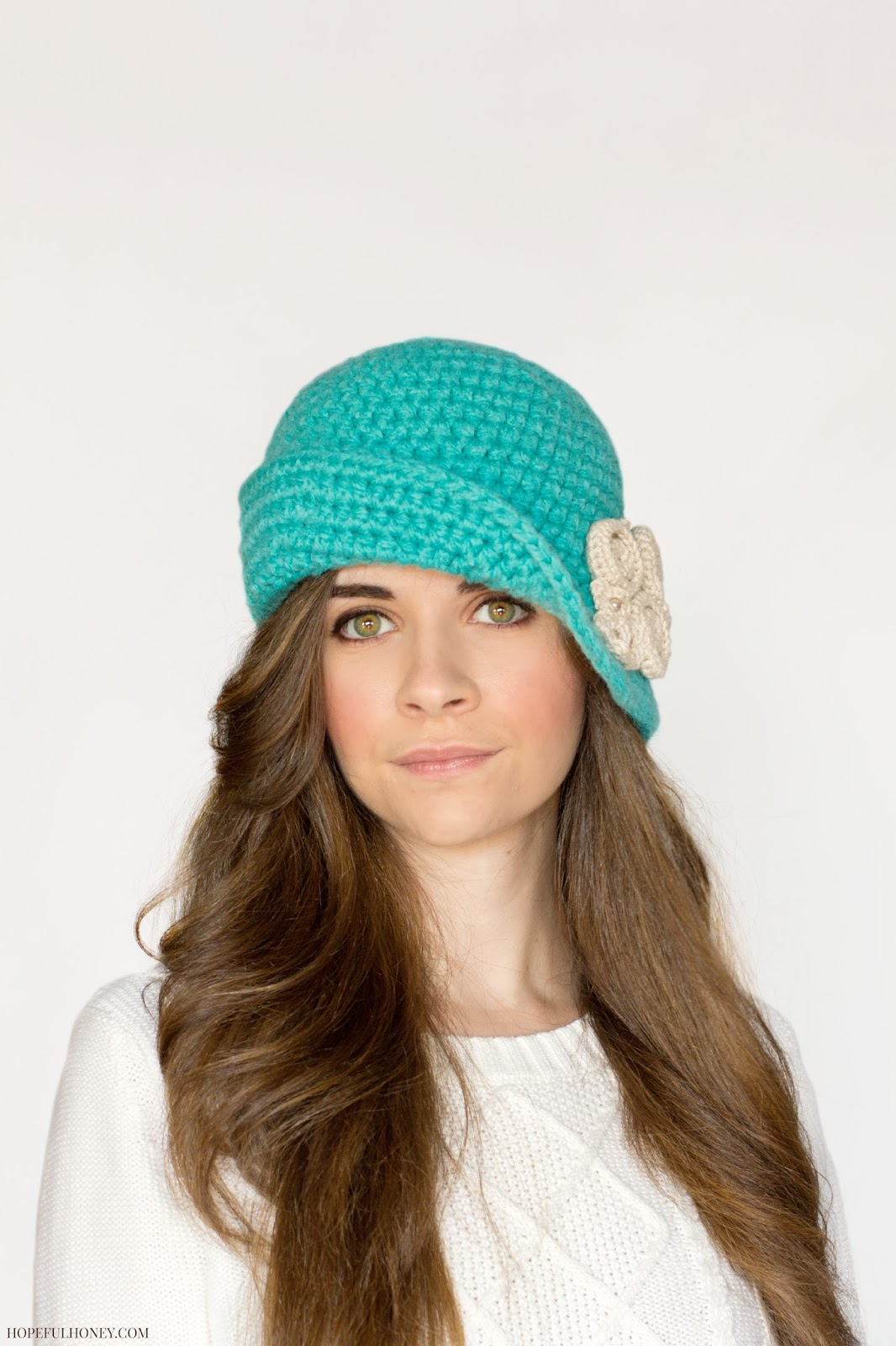 Crochet Pattern For A Cloche Hat : Hopeful Honey Craft, Crochet, Create: Charleston Cloche ...