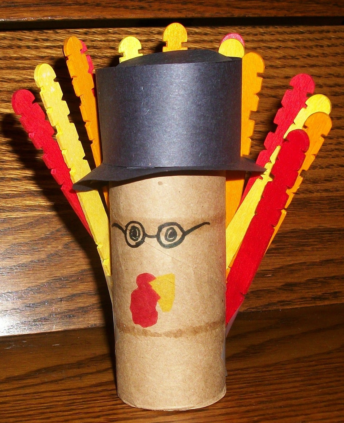 Arts and Crafts Paper Towel Roll Turkey