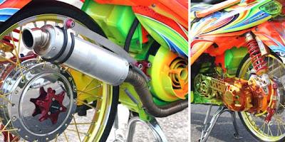 Contoh Modifikasi Motor Matic Mio