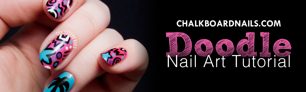 Chalkboard Nails - Doodle Nail Art Tutorial