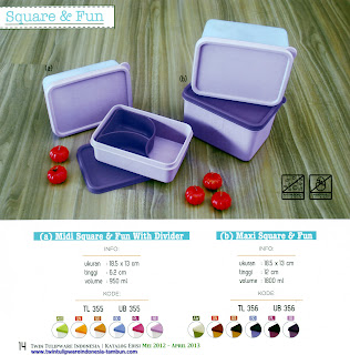 Info & Harga Twin Tulip Tulipware 2014 : Midi Square & Fun With Divider | Maxi Square & Fun