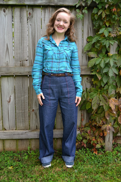 Flashback Summer:  Pumpkin Patch GYRAD and a New Pair of Jeans- 1940s, retro, sweater, outfit, vintage