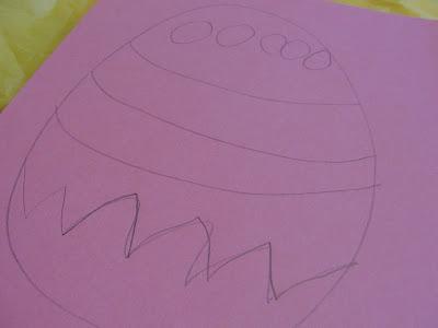 Tissue Paper Easter Egg egg drawing