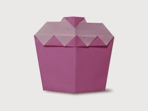 Hướng dẫn cách gấp cái bánh ngọt bằng giấy đơn giản - Xếp hình Origami với Video clip - How to make a shortcake