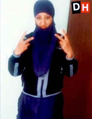 Face of Europe first female  suicide bomber that blew herself up in France attack(photos)