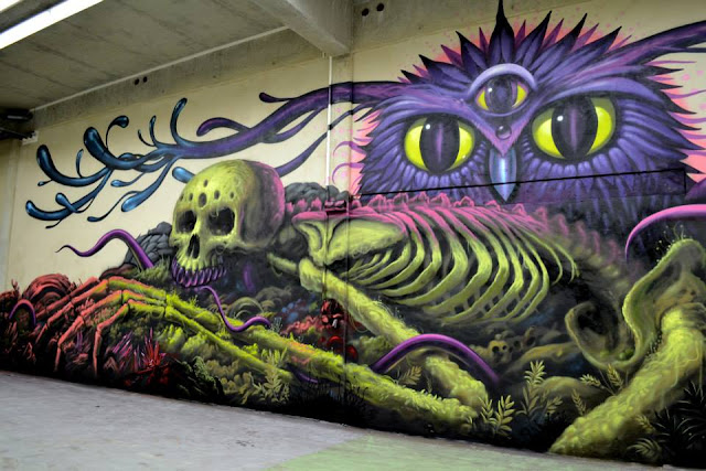 Street Art Collaboration By Jeff Soto And Maxx242 For Goodbye Monopol 2 In Luxembourg City. 6