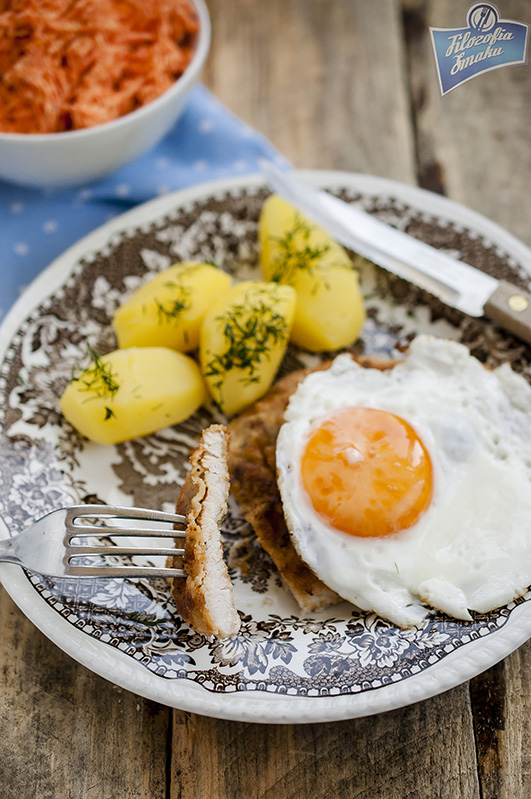 Sznycle z indyka z jajkiem sadzonym
