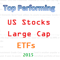 Top 25 US Large Cap Stock ETFs in 2015