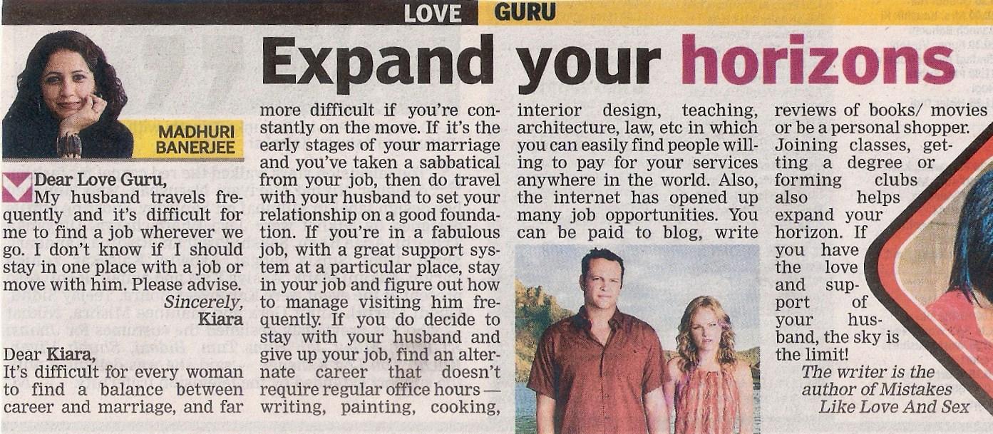 relationship advice columnist