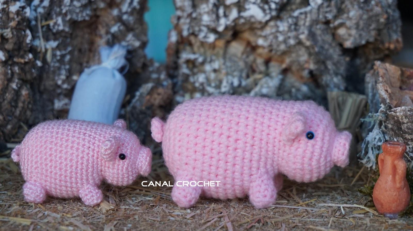 CANAL CROCHET: Cerdo amigurumi patrón libre.