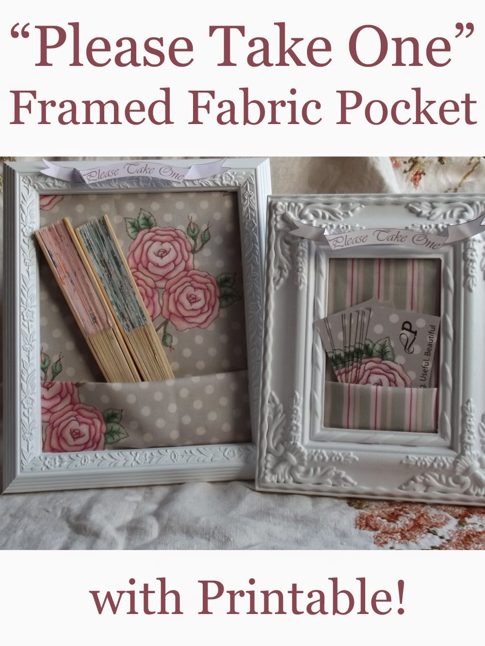 Liliflora pretty make your own spools and framed business card holder shabby chic craft ribbon lace spools pins fabric pockets folded frames fans please take one business card holder colourmoves