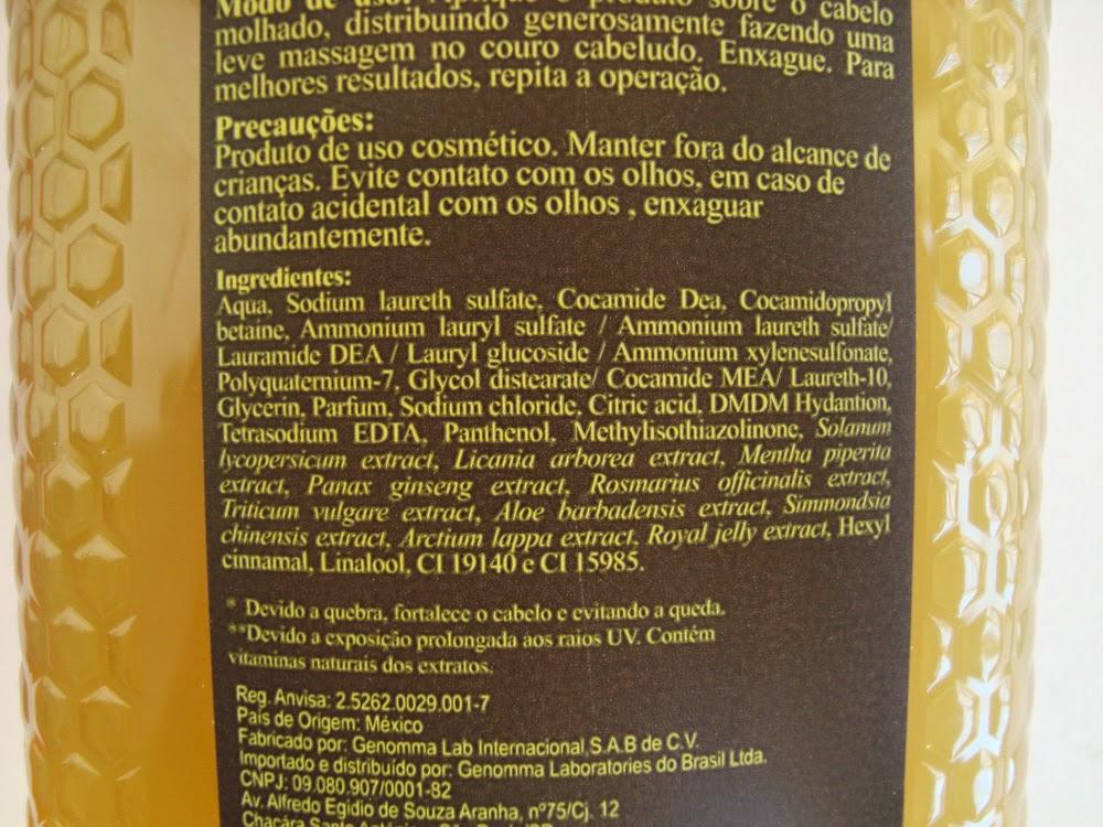 Resenha: Shampoo Tio Nacho Geléia Real, Antiqueda / Anti - idade, Fórmula, Ingredientes