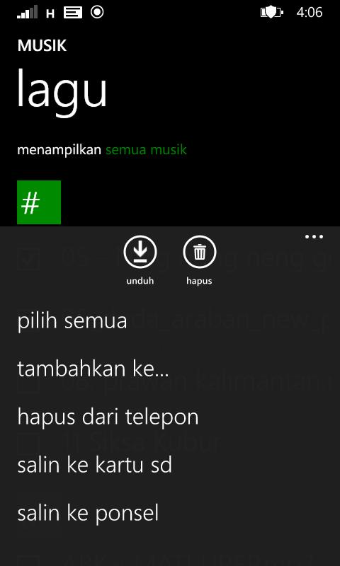 cara membuat daftar lagu di windowsphone
