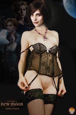 ashley+greene+panot+2011 Ashley Greene Nude Possing her Boobs in Black Lingrie Fake