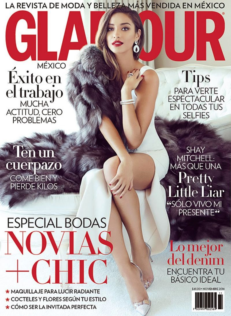 Shay Mitchell channels old Hollywood style for Glamour Mexico's November 2014 issue