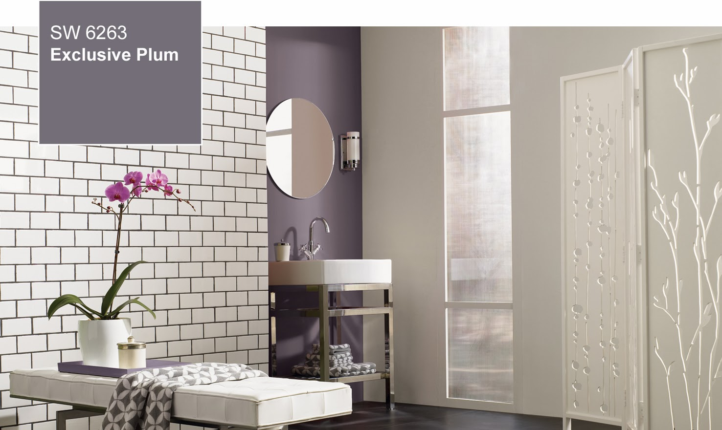 It seems from what i see in these promotional photos from sherwin williams that the color has enough grey in it to function as a neutral