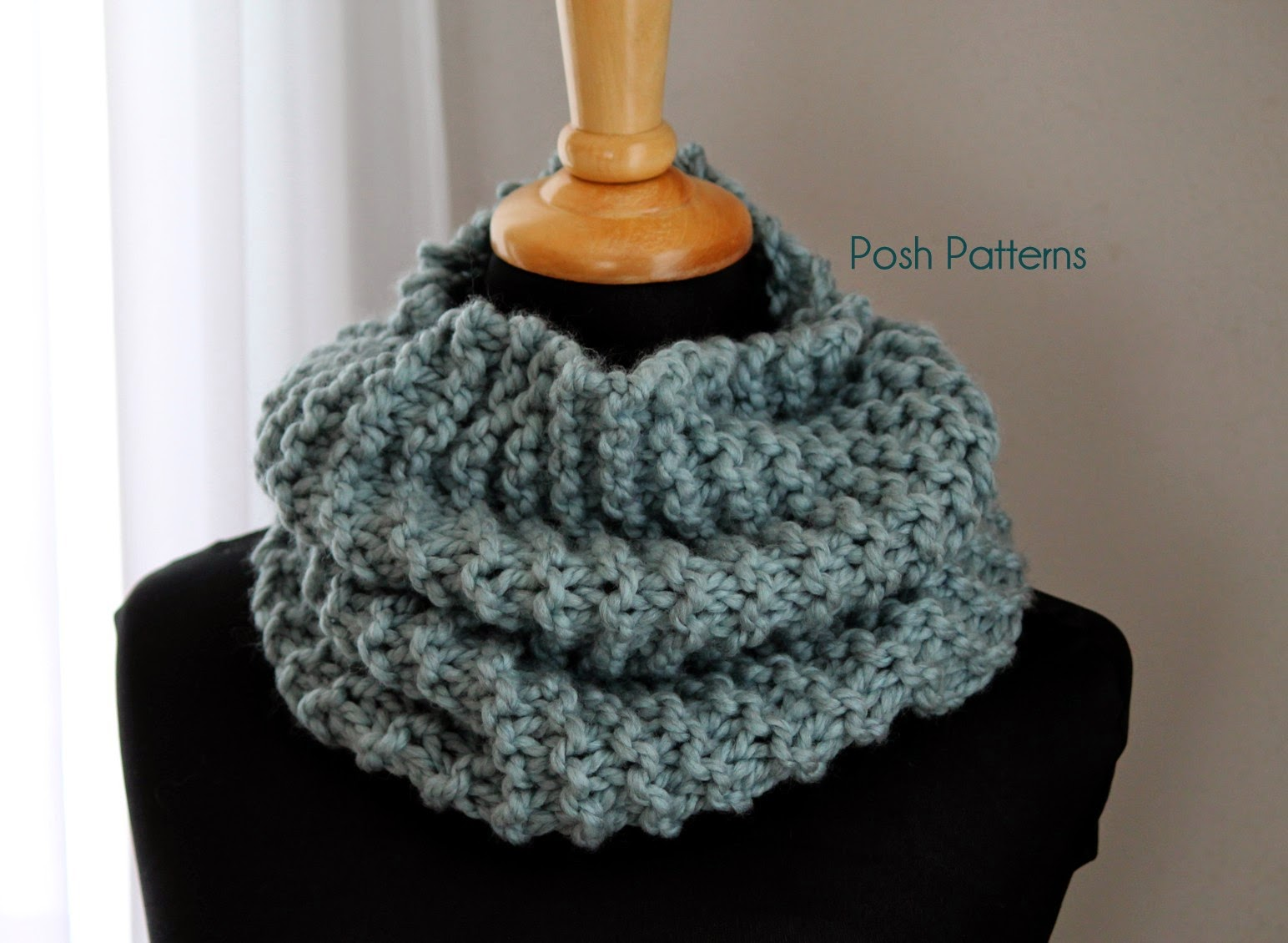 Free Cowl Knitting Patterns For Beginners : Posh Patterns Easy Crochet Patterns and Knitting Patterns ...