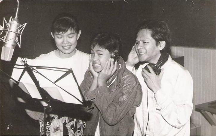 Cokman dan Jenny Chin sewaktu merakamkan lagu untuk album Sahabat