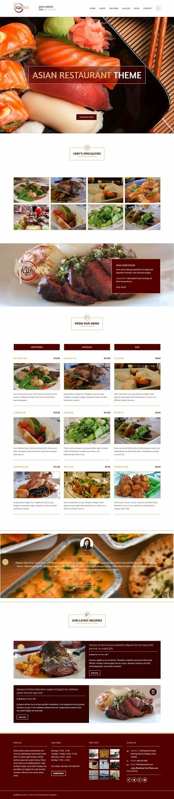 Best Responsive Restaurant WordPress Theme